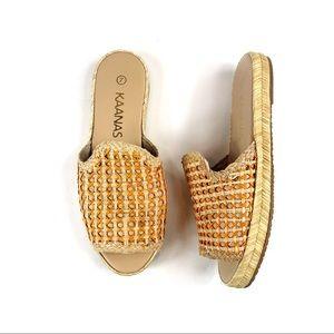 KAANAS Shoes - Kaanas Martinique Woven Pool Slides Espadrilles 7